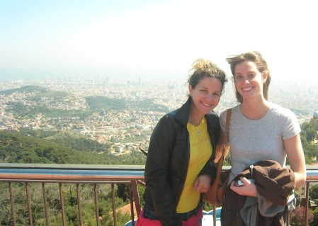 Meemers and I Overlooking Barcelona at Tibidabo
