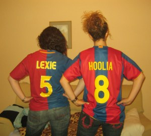 About ready to go to the Barca game!