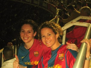 Highlight of Lex's Visit: The Barca game