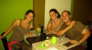 Tres Amigos at Dinner