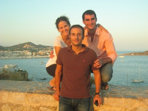"The 3 ""Barcelonians"" from the Ibiza trip, Hoolia, David and Jos"
